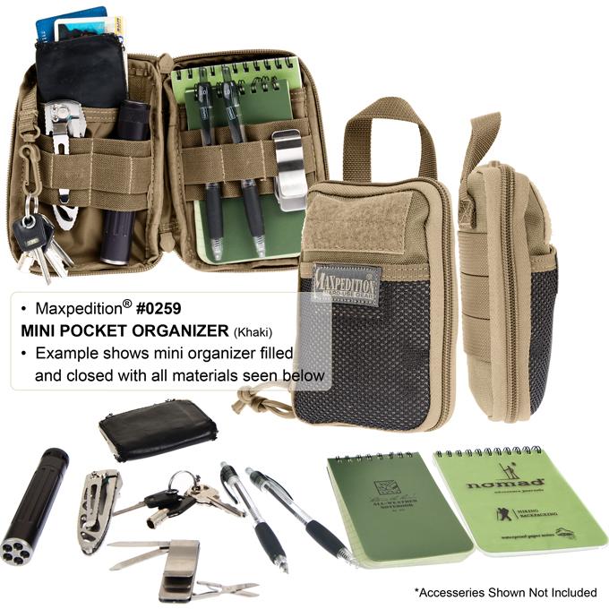 Maxpedition Mini Pocket Organizer Khaki – Органайзер Maxpedition