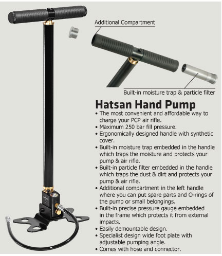 PCP помпа Hatsan – PCP Hand Pump Hatsan