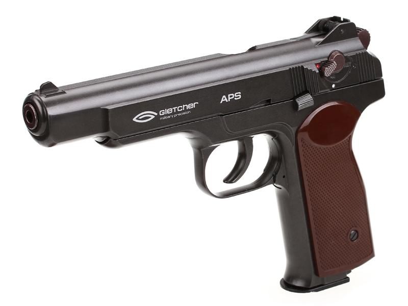 Въздушен пистолет Gletcher APS Blowback CO2 4.5 mm