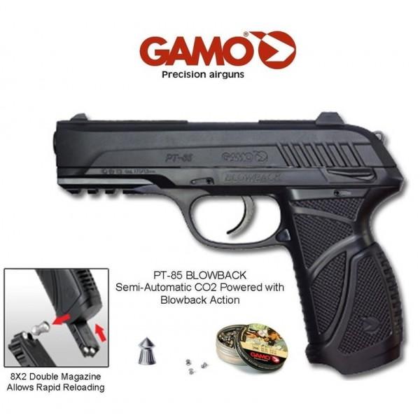 Въздушен пистолет Gamo PT-85 Blowback 4.5 мм Комплект