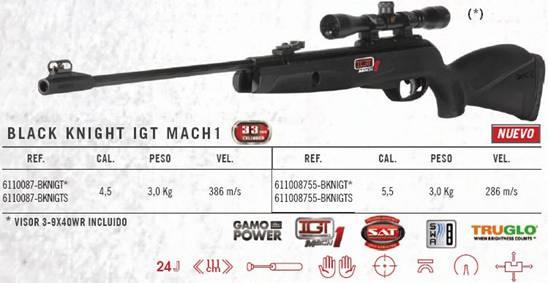 Въздушна пушкa Gamo Black Knight IGT Combo 5.5мм
