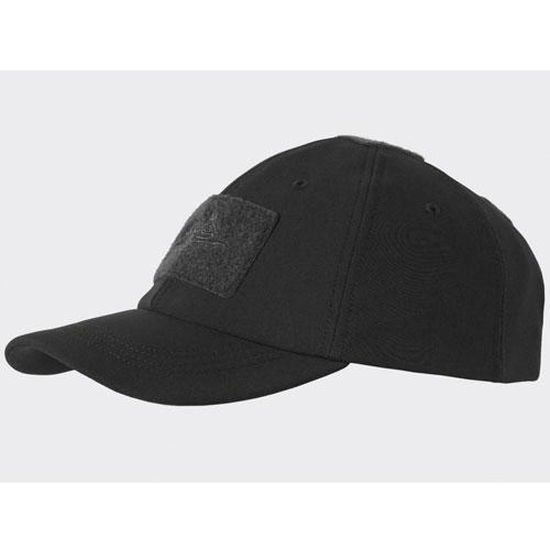 Зимна Бейзболна Шапка Helikon-tex Черна Soft Shell 100% Polyester