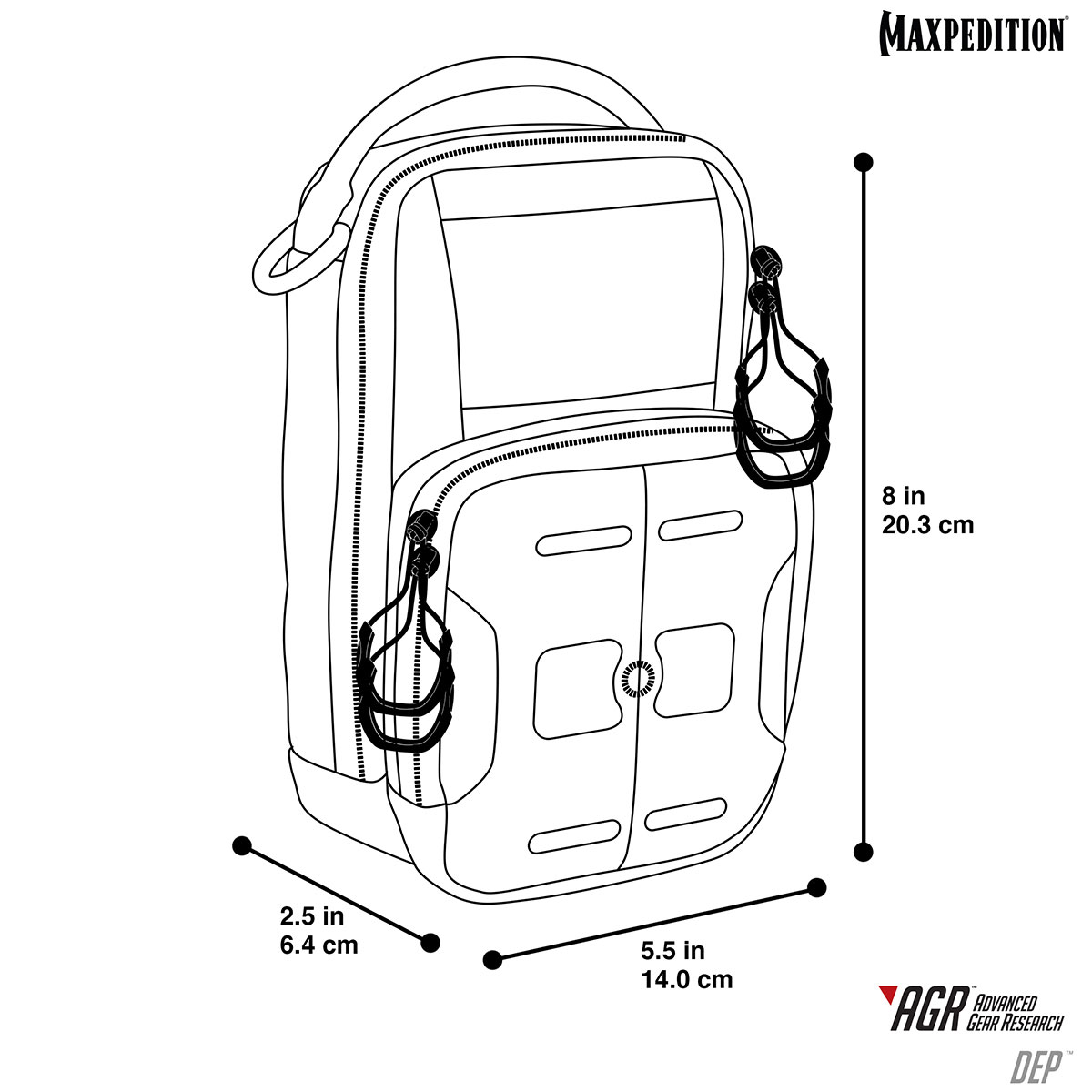 Maxpedition DEP™ Daily Essentials Pouch Black