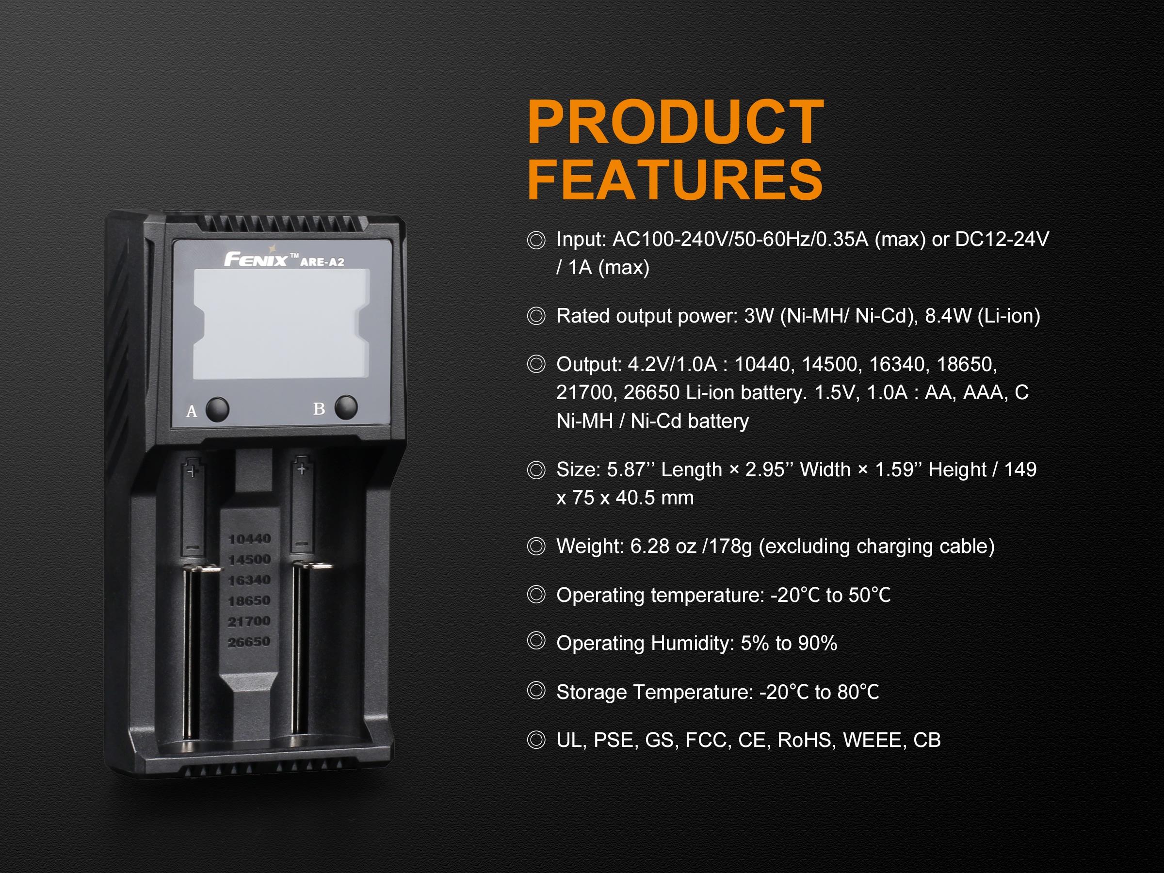 Зарядно устройство Fenix ARE-A2