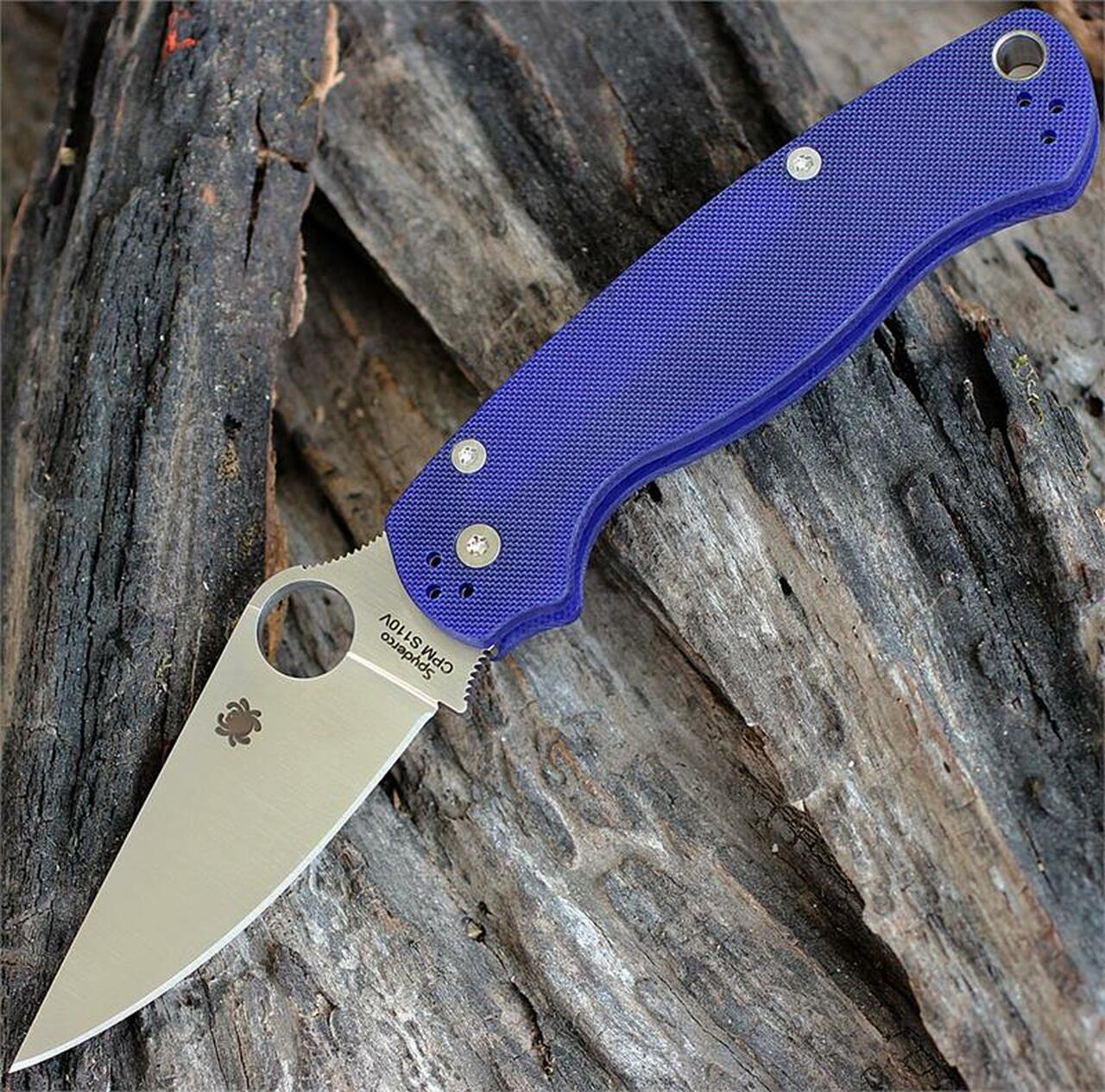 Нож Spyderco Para-Military 2 G-10 Dark Blue CPM S110V