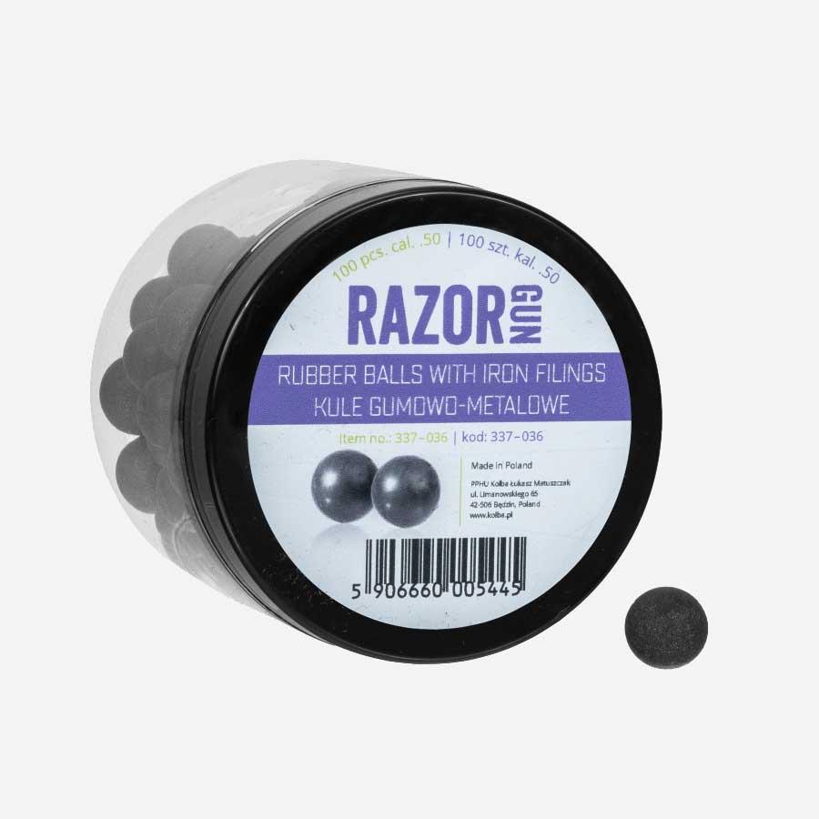 Гумено метални топчета Razor Gun .50 cal за Umarex  HDR и HDP 100бр