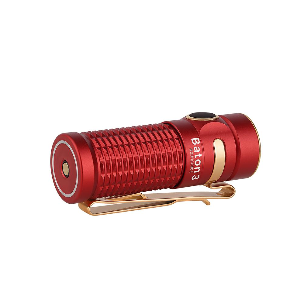 Заряден Фенер Olight Baton 3 1200lm – Червен