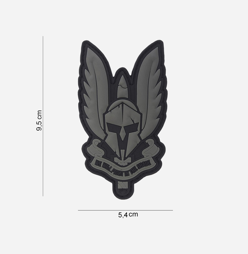 Пач 3D PVC Spartan black #10100