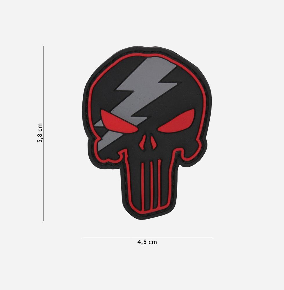 Пач 3D PVC Punisher thunder red #12056