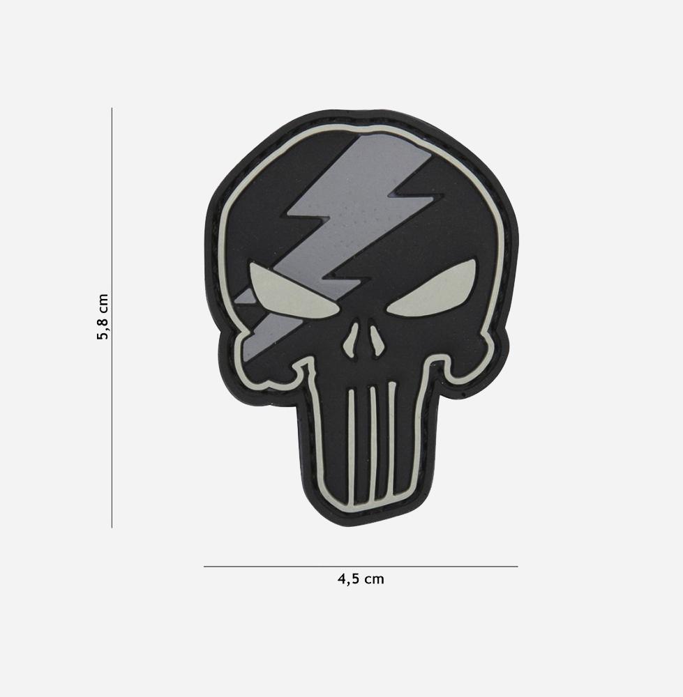 Пач 3D PVC Punisher thunder grey #12057