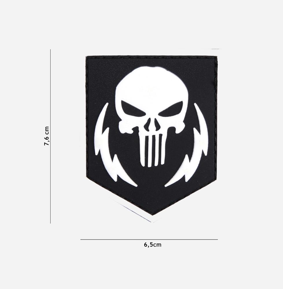 Пач 3D PVC Punisher thunder strokes white #12071