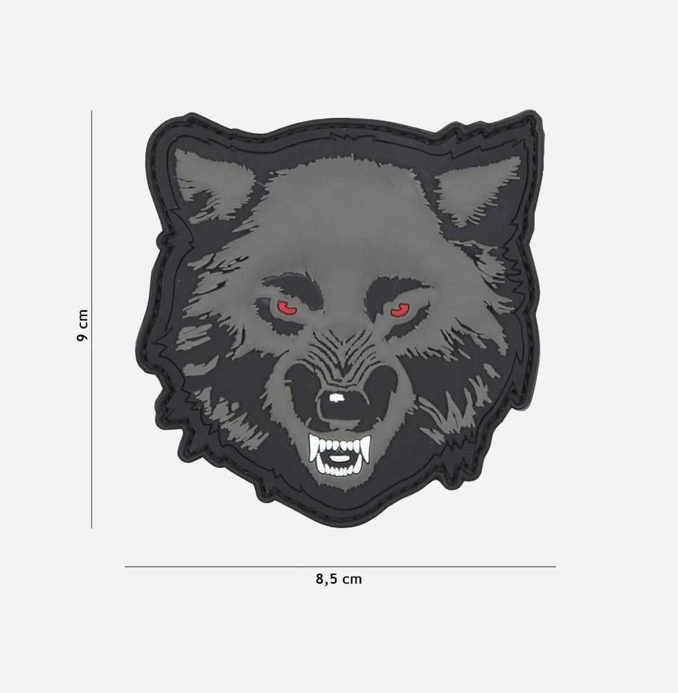 Пач 3D PVC Wolf grey #11138