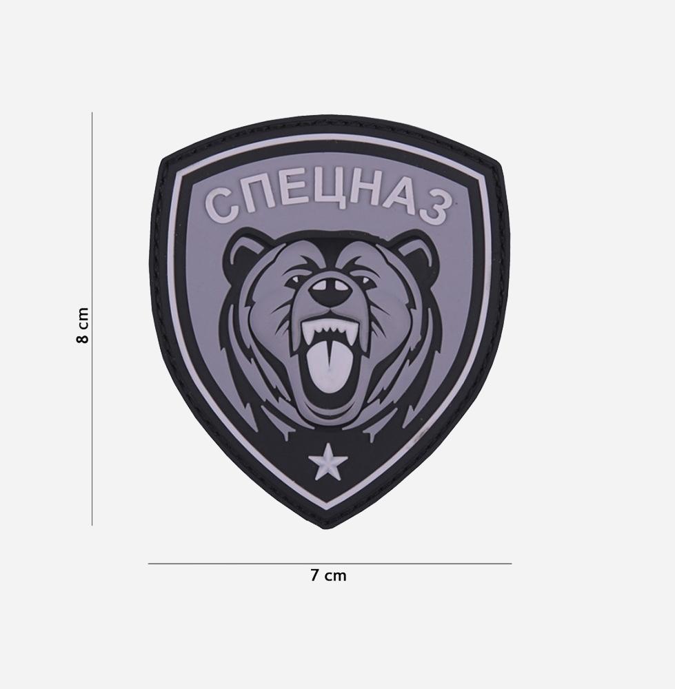 Пач 3D PVC Spetsnaz bear grey #9068