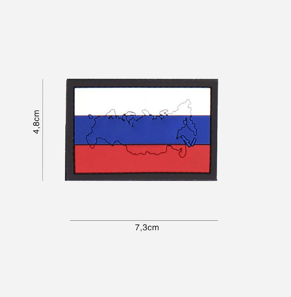 Пач 3D PVC Russia with contour #4125