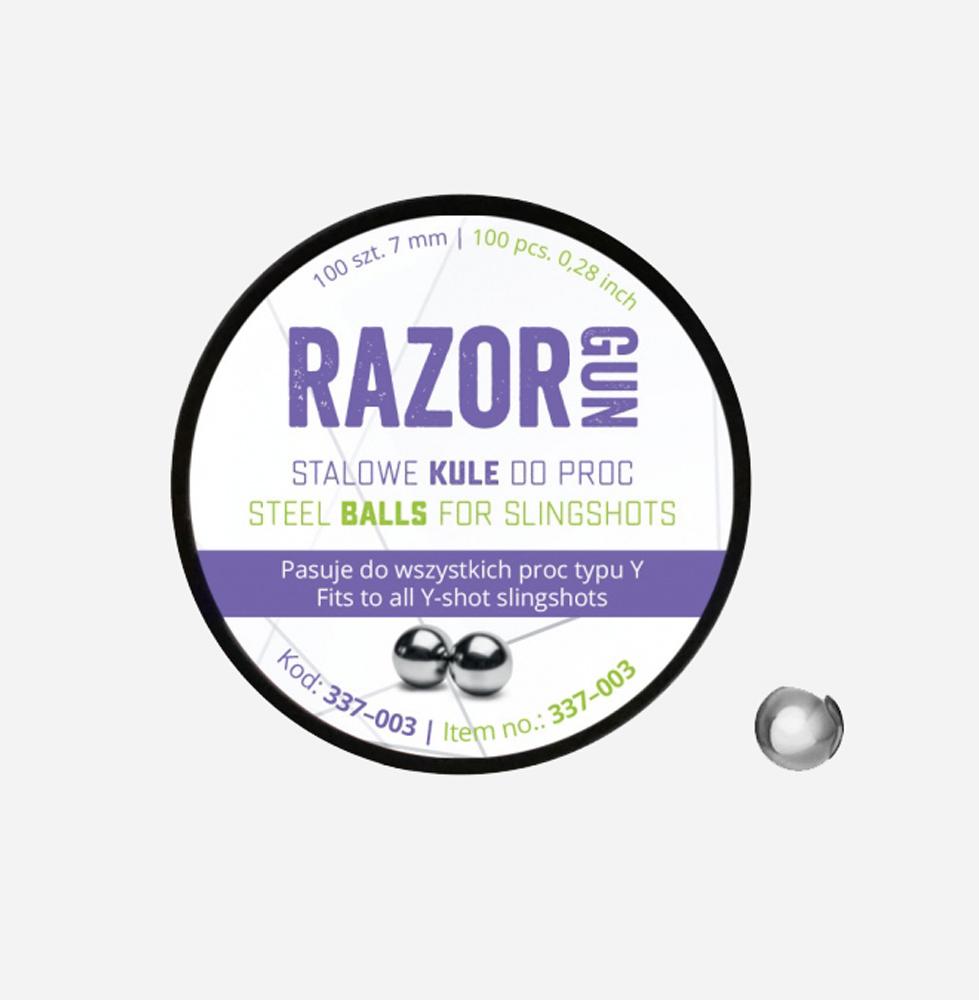 Стоманени сачми за прашкa RazorGun 7 мм 100 бр.