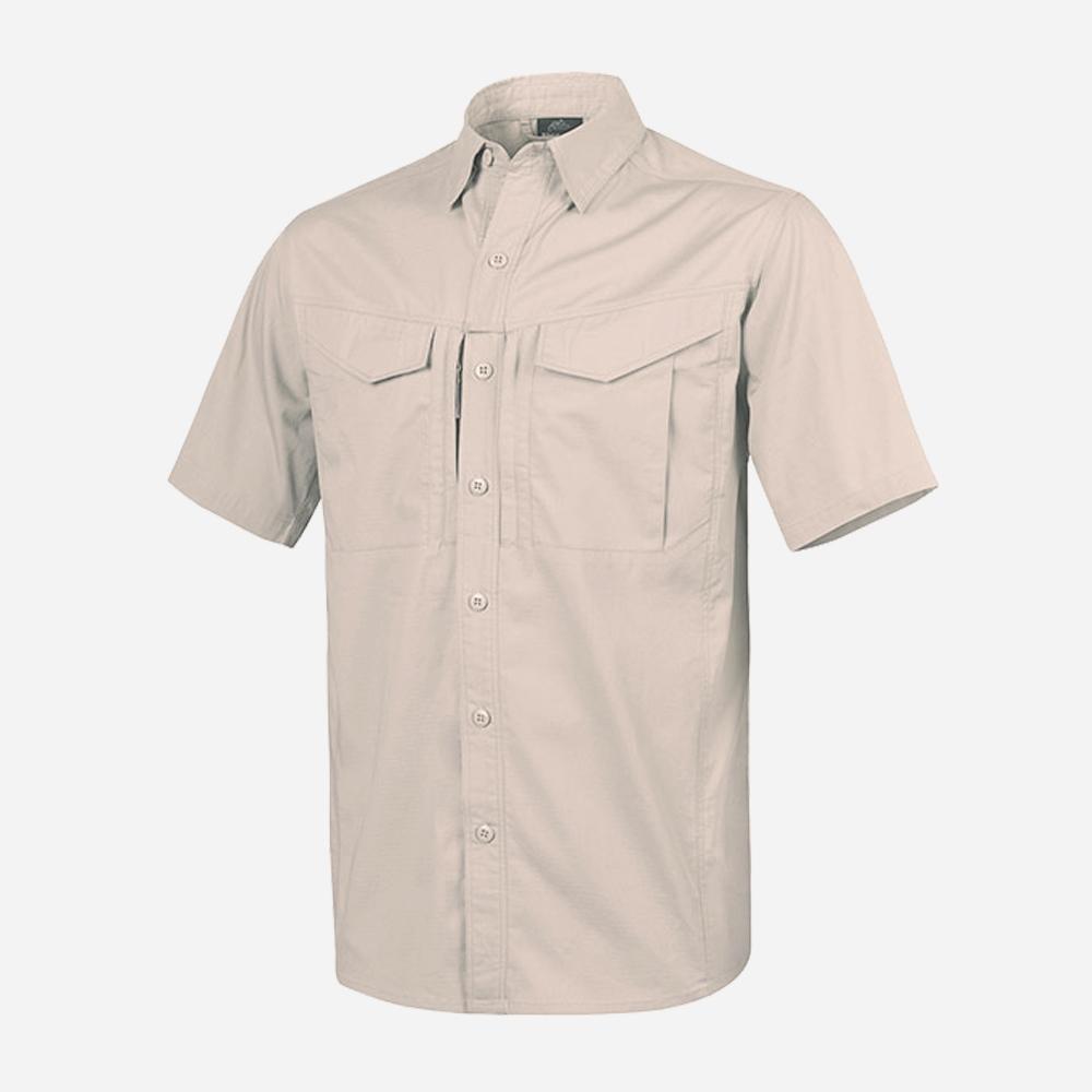 Риза с къс ръкав Helikon-tex Defender Mk2 Khaki Polycotton Ripstop