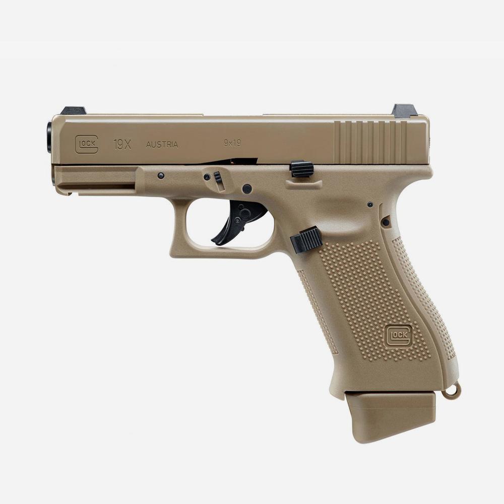 Еърсофт пистолет GLOCK 19X CO2 airsoft gun 6мм BB