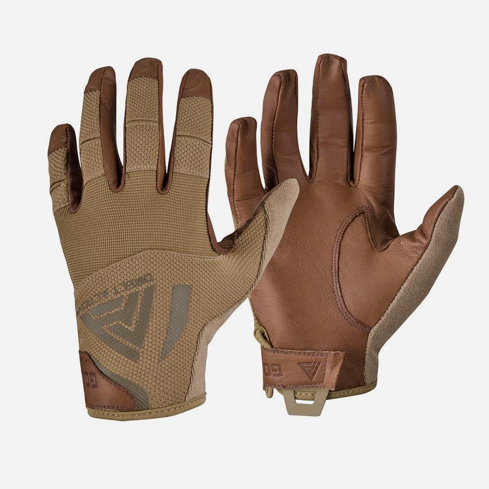 Тактически ръкавици DIRECT ACTION® HARD GLOVES Leather coyote