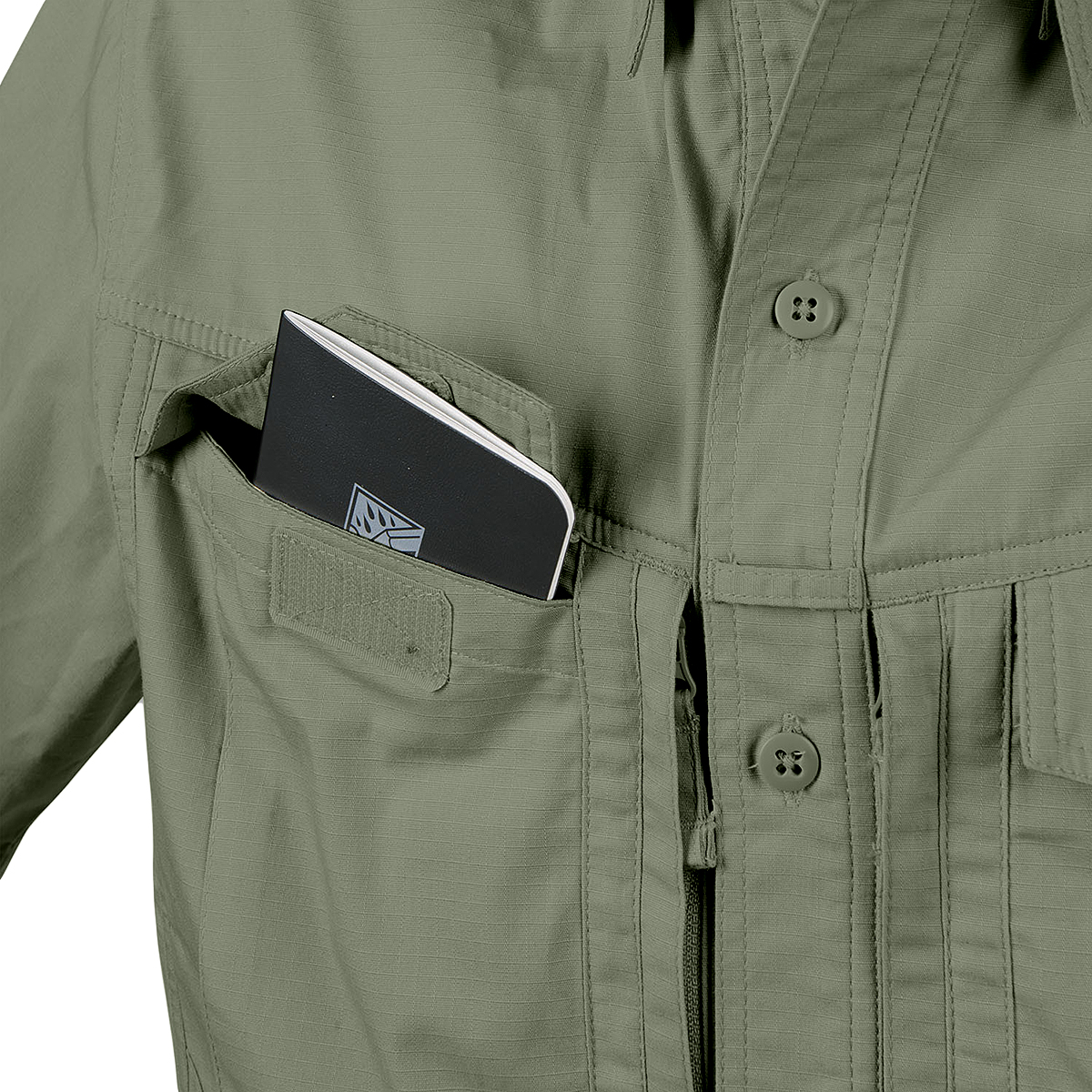 Риза с къс ръкав Helikon-tex Defender Mk2 Oliv Polycotton Ripstop