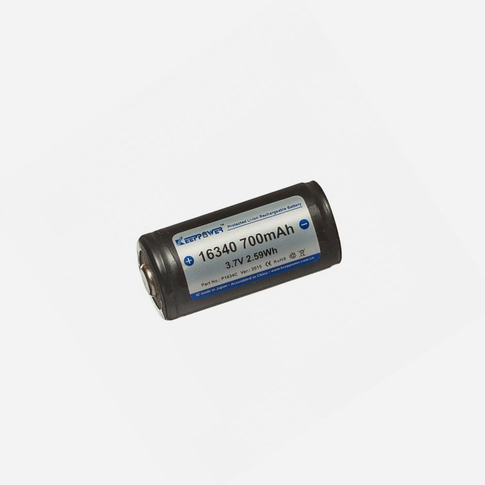 Зарядна литиево-йонна батерия KeepPower 3.7V CR123 700mAH
