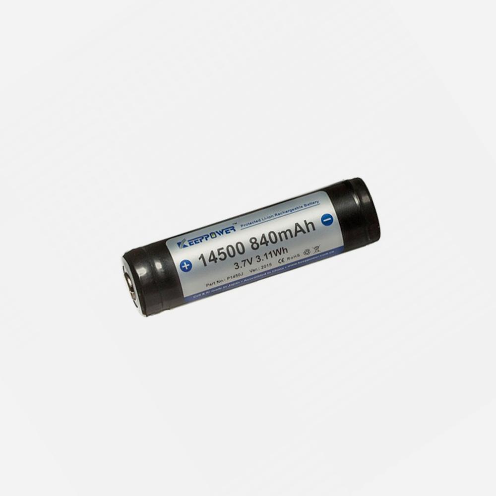 Зарядна литиево-йонна батерия KeepPower 3.7V 14500 800mAH