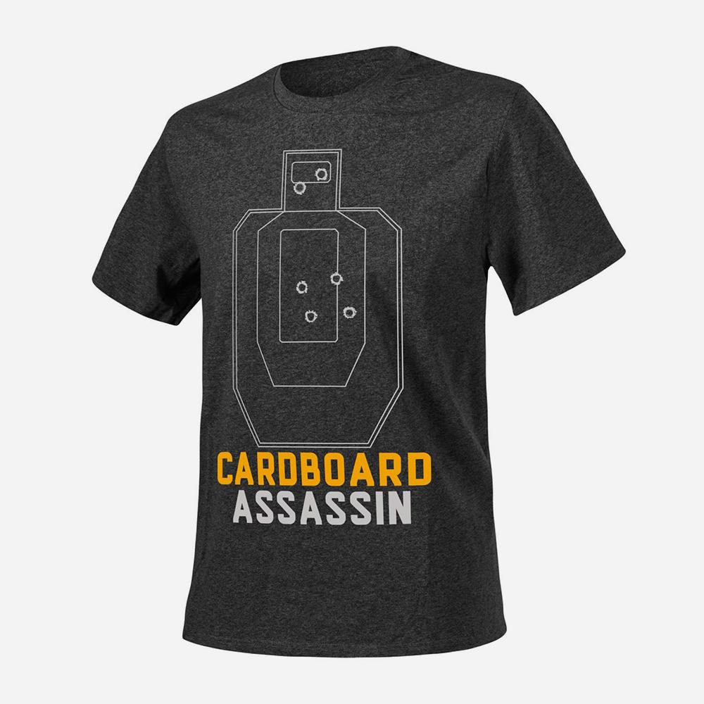 Тениска Helikon-tex Cardboard Assassin Black and Grey Melange