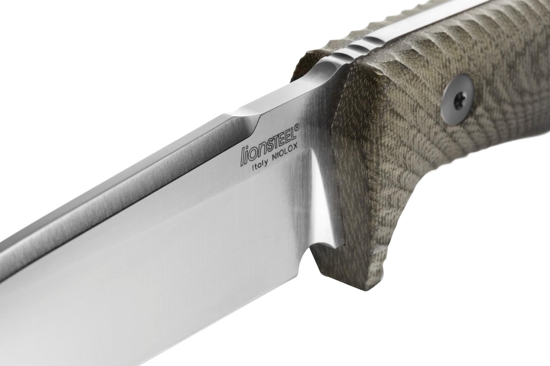 Нож LionSteel T5 Green Canvas Niolox