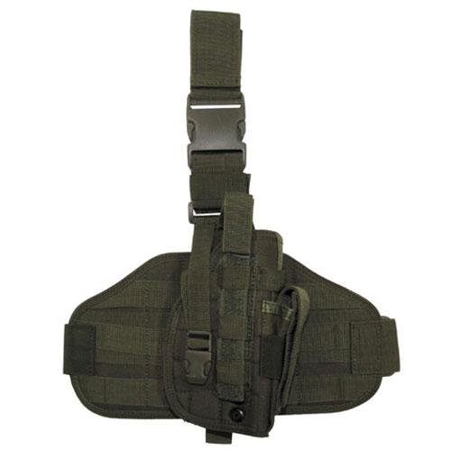 Тактически кобур за бедро и колан Max Fuchs Molle Зелен За Големи Пистолети