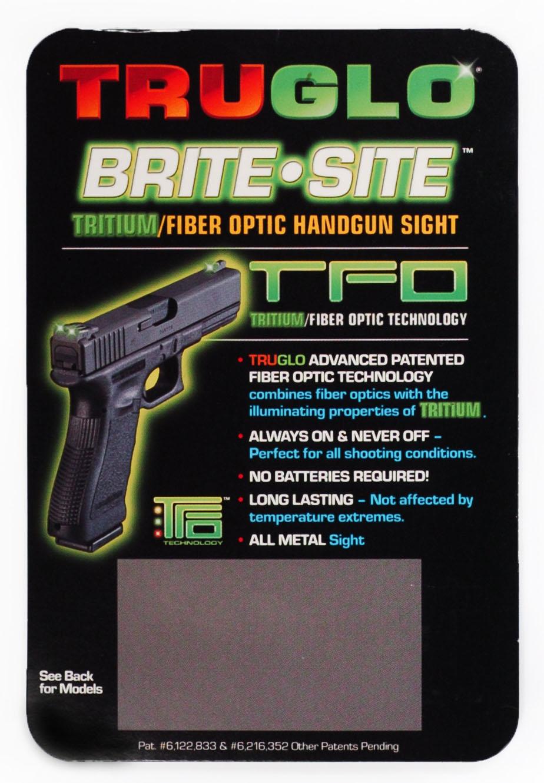 Тритиеви – Фибро оптични мерни прибори Truglo TFO за Glock 17/19 – зелени