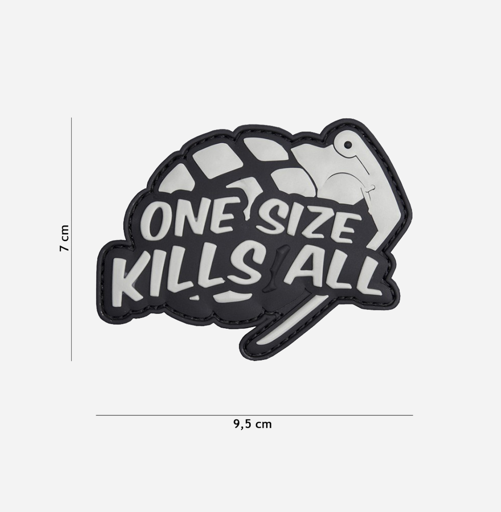 Пач 3D PVC One size kills all grey #2066