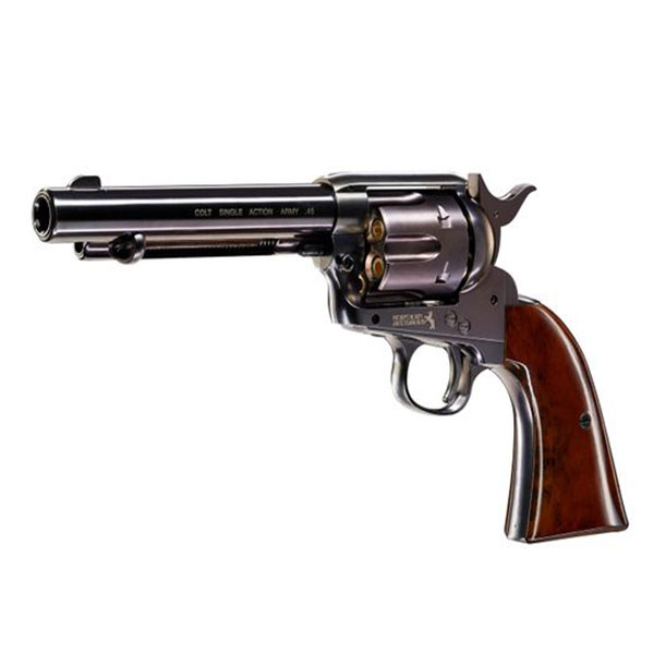 Въздушен револвер Umarex Colt Single Action Army .45 Blue CO2 4.5мм