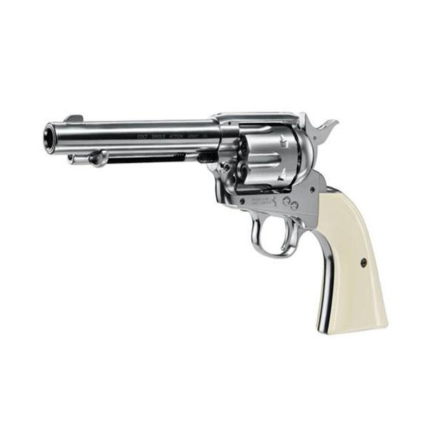 Въздушен револвер Umarex Colt Single Action Army .45 Nickel CO2 4.5мм